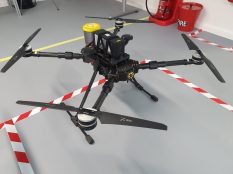 Battery quadcopter. Credit: ISS Aerospace